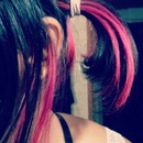 Black and pink hair