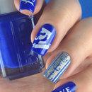 Navy Nails