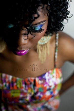 my first photo shoot as mua