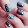Pine Effect Studded Nail Art