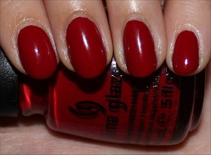 See more swatches & my review here: http://www.swatchandlearn.com/china-glaze-adventure-red-y-swatches-review/