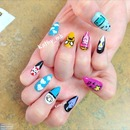 Cartoon stiletto nails