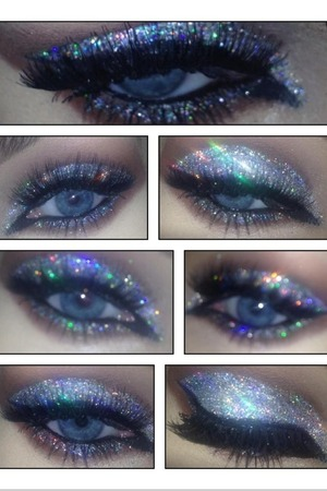 Silver hologram glitter no airbrushing original photos only!