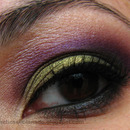 Green and Purple Smoky Eye