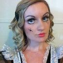 My broken doll Halloween makeup :)