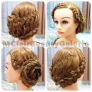 Bridal Rose Braid Updo