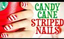 Candy Cane Striped Nails Tutorial