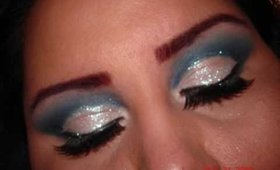 Navy and Silver Makeup Tutorial