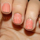 Striped and Floral Nails