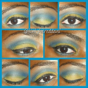 Tropical look I created using my coastal scents 252 palette.