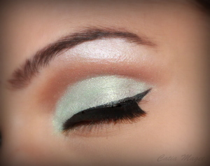 Wearing Pure Fusion mineral eyeshadows in 