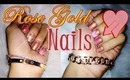 Rose Gold Valentine's Day Glitter Nail Tutorial