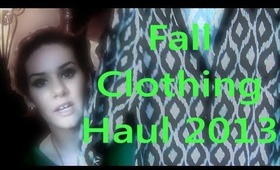 HUGE Fall Clothing Haul 2013- AlyssaRHood