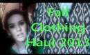 HUGE Fall Clothing Haul 2013- AlyssaRHood