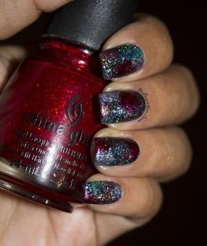 http://www.bellezzabee.com/2013/07/exploding-glitter-sky.html