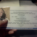 My Cosmetology License. <3