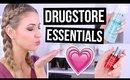 TOP 10 || Drugstore Skincare Essentials!