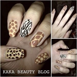 Animal Print Nails www.kakabeautyblog.com