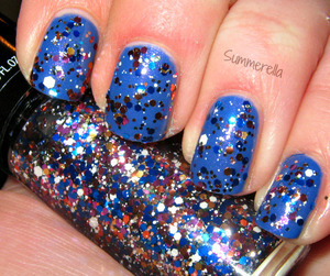 Hard Candy Party Central and China Glaze Fancy Pants http://summerella31.blogspot.com/2013/03/new-hard-candy-glitters.html