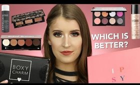 BOXYCHARM VS IPSY GLAM BAG PLUS | OCTOBER 2019 UNBOXING