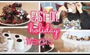 Easy DIY Christmas Treats! Cute, Festive, NO BAKE!