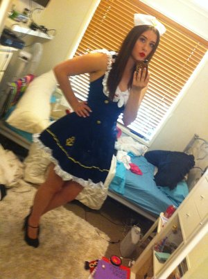 My sailor costume arrived and its amazing! But now I need a great make up look to match it! I know I want to wear Ruby Woo (red) on my lips and ...  sc 1 st  Beautylish & Sailor costume came! makeup ideas? ? | Beautylish