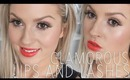 GRWM Glamorous Lips & Lashes! Orange! ♡ Shaaanxo