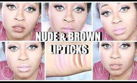 Top MAC Nude &  Brown Lipsticks For Women of Color ☆