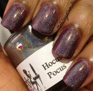 Girly Bits Hocus Pocus layered over Sonia Kashuk Hocus Pocus