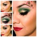 Xmas inspired makeup