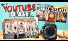 HOW TO MAKE YOUTUBE THUMBNAILS (Like A Pro!)