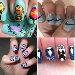Just some cool nails by: Missy Balmy) just another cool nail designer! 💅 Sorry I haven't posted any pics😭📷 sorry supporters!