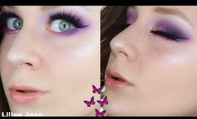 NEW Colourpop Rainbow Palette Purple & Yellow Makeup Tutorial | Lillee Jean
