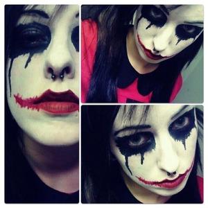 The Joker/Harley Quinn inspired look