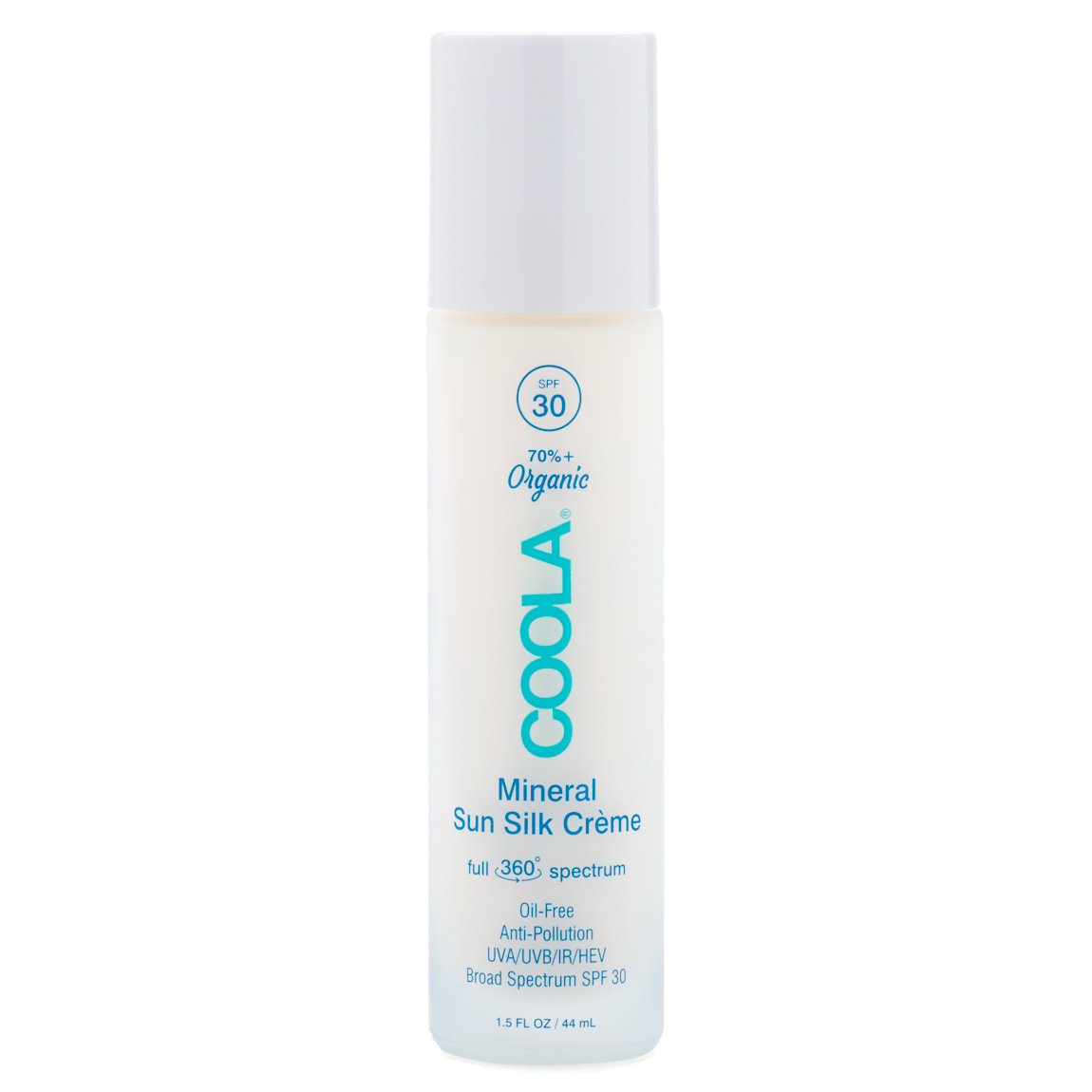 COOLA Mineral Organic Sun Silk Creme SPF 30 product swatch.