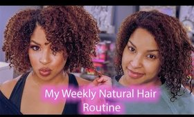 Styling my natural hair for the week + Curly hair products