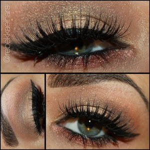 @nyxcosmetics HD eyeshadow base, Love in Paris 'Merci Beaucoup', Jumbo pencil 'Black Bean' in waterline, & Collection Noir liquid liner.