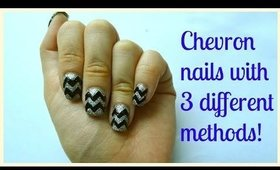 How I do easy chevron zigzag nails with 3 different ways for beginners! Explained step by step