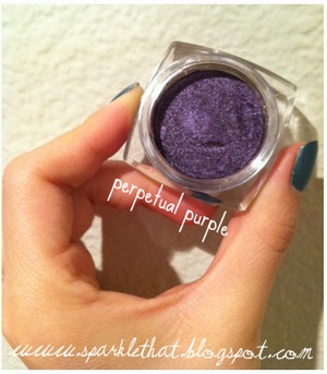 L'Oreal Infallible Shadow! Perpetual Purple  http://sparklethat.blogspot.com/2011/12/new-loreal-infallible-eyeshadow.html