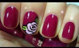Easy rose Nails ♥ Rose flower nail art design