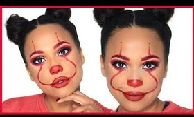 IT Pennywise Glam Halloween Makeup Tutorial | Beat on a Budget | Ashley Bond Beauty