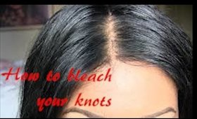 How to bleach knots on lace frontal or closure
