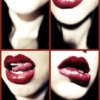 vamp red lips