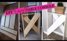 MAKE YOUR OWN CONSOLE TABLE FOR LESS!