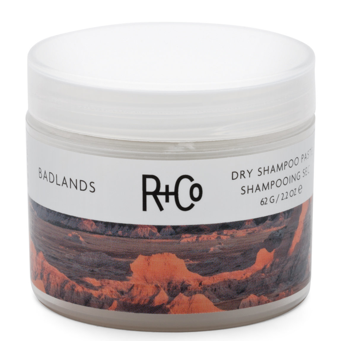 R+Co Badlands Dry Shampoo product swatch.