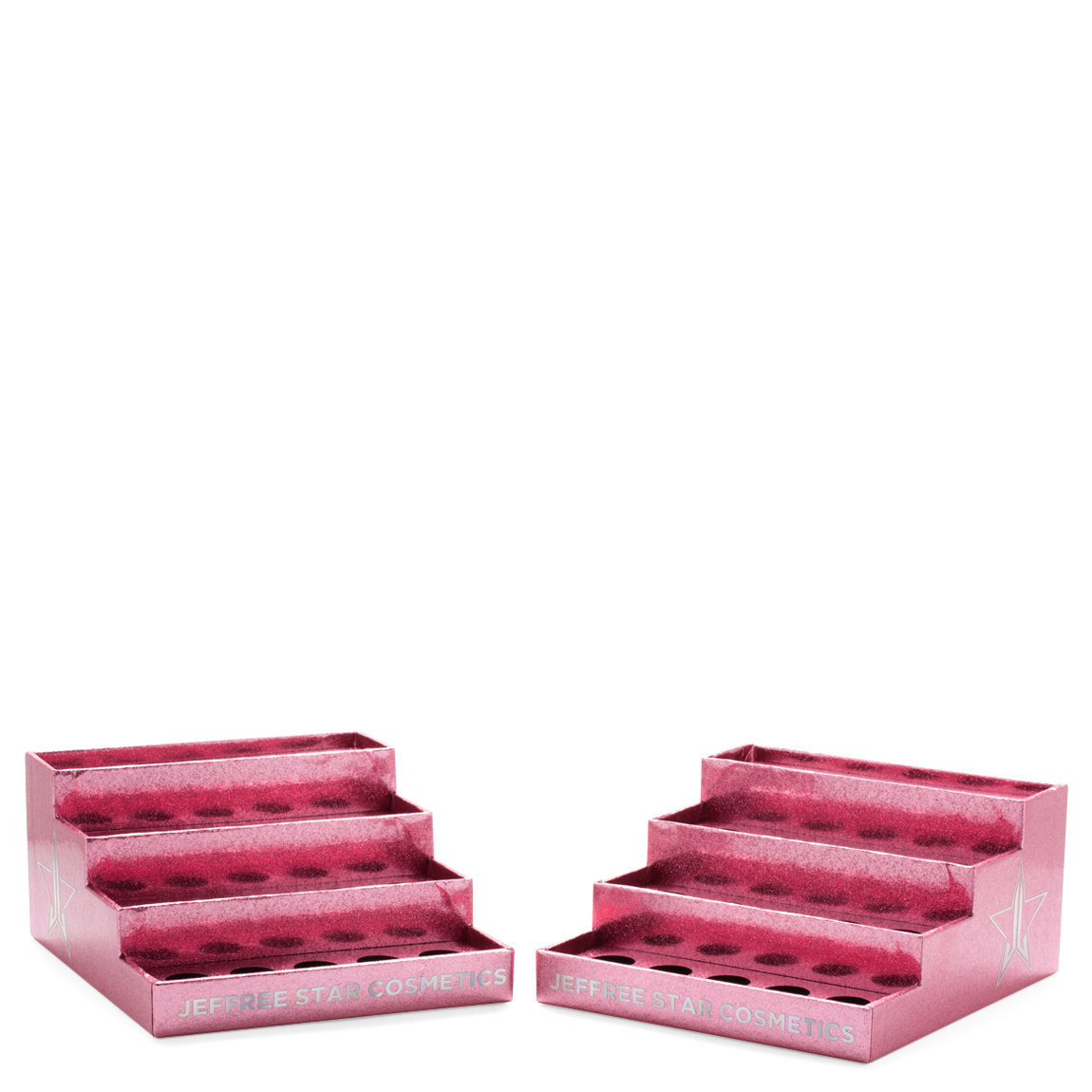 Jeffree Star Cosmetics Pink Glitter Makeup Display (2-Pack) product smear.
