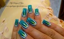 Abstract Turquoise, Pearl Nail Art Design Tutorial - ♥ MyDesigns4You ♥