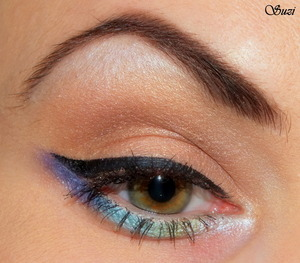 Black Lace and gradiend eye liner