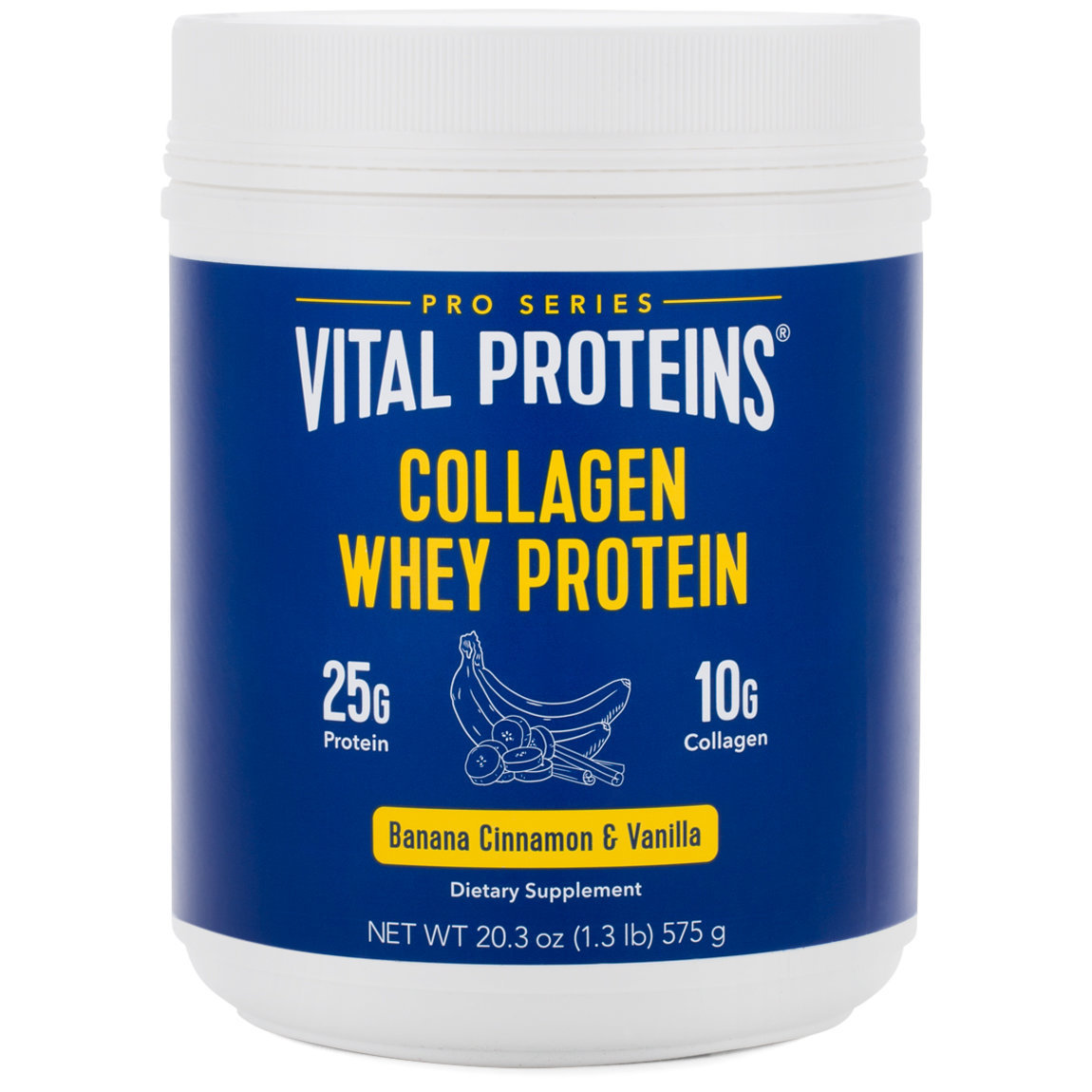 Vital Proteins Collagen Whey Protein - Banana, Cinnamon & Vanilla product smear.