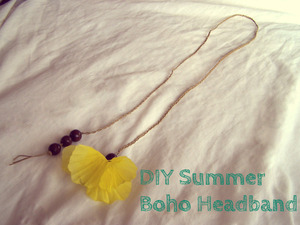A photo from my tutorial of a summer boho headband.  ~S